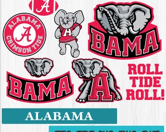 INSTANT DOWNLOAD_Alabama Crimson Tide Logo SVG Vinyl Cutting Decal, for Mugs, T Shirts, Cars SVG files for Silhouette Cameo Cut Files