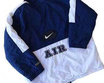 NIKE AIR Vintage 90s Blue White Colorblock Ski Jacket Coat Men's