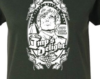 MORE COLORS Tyrion Lannister T-Shirt-- Game of Thrones, Drink and Know Things, The Imp's Delight, Season 7, Tee Shirt GoT HBO womens mens