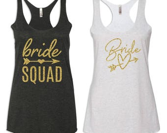 Bride Squad Tank Tops, Bachelorette Party Shirts, Bridesmaid Shirts, Bridal Party Tanks, Bridesmaid Gift, Bride Getting Ready Shirt