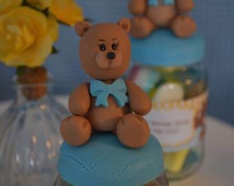 Personalized Teddy bear figurine