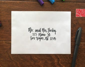 Handwritten Calligraphy Address