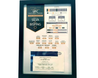 MMA Personalised Infographic Ticket Display