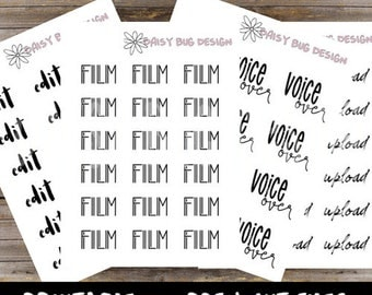 YouTube Lettering PRINTABLE Stickers