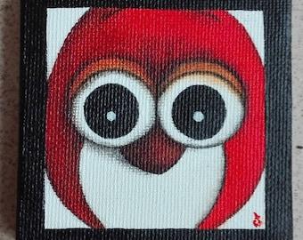 Peinture hibou etsy - Chouette rigolote ...