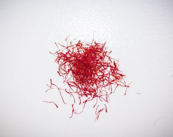 Saffron Threads, Fresh and Local, Not on Sale, for Your Needs, 1 gram