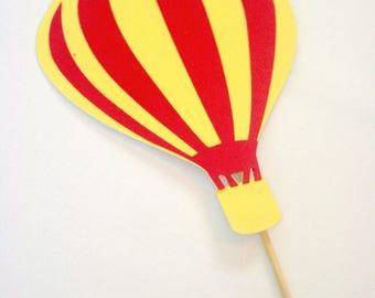 Hot Air Balloon Cake Topper/Balloon Cake Topper/Balloon Topper/Hot Air Birthday/Hot Air Balloon Top/Hot Air Balloon Cake/One Cake Topper