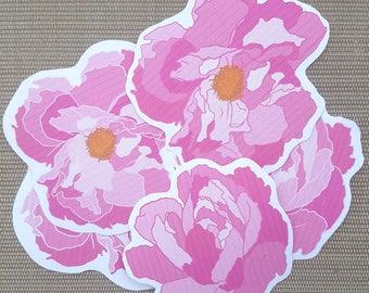 Peony Flower Stickers