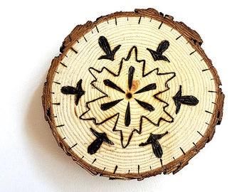 Snowflake Wood Carving