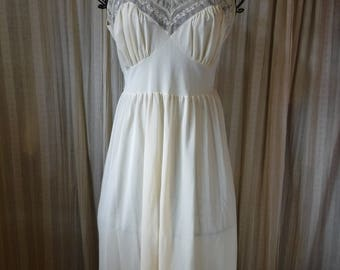 1956 Lingerie Bridal Slip Ivory Luxite by Kayser Sexy but Demure