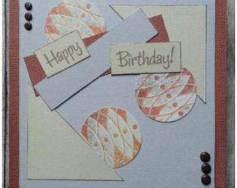 Happy Birthday card-Masculine card