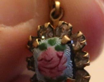 Flower Portrait Dangle Earrings