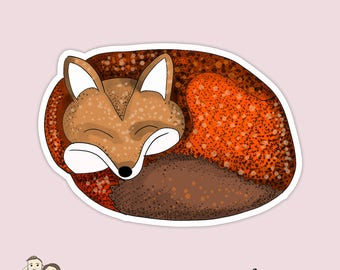 SLEEPING FOX Planner die cuts / Planner Die Cut/ Erin Condren/ Happy Planner/ Eclp/ Filofax/ Kikki K/ scrapbook/ Foxy Fix D2