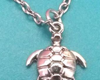 Turtle Charm 10'' Necklace