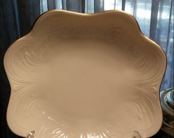ca. 1970 Lenox Embossed Octaganol Shaped Bowl  Security Fire Door Co. 50 Years