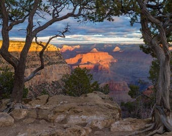 Sunrise at the Grand Canyon - South Rim - Arizona - Unmounted Print - Various Sizes and Finishes Available