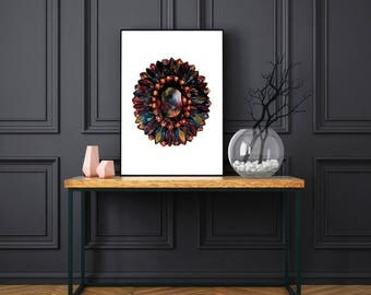 Red Jewel Poster Print