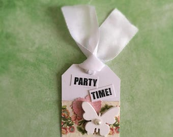 Lovely Butterfly Tags:  Birthday Gift Tags, Handmade Gift Tags, Elegant Gift tags - Set of 4