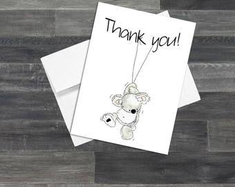 Set of Koala Thank You Cards & Envelopes