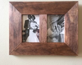 Side by Side 4x6 Pine Picture Frame
