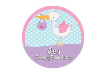 Personalized Delivery Room Nurse Button - Medical Button - Nurse ID Badge - Medical ID Badge - Nurse Button - Med School Button