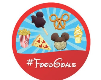 Disney Park Food Goals Button - Mickey Shaped Food Pin - Theme Park Button - Disney Park Pin