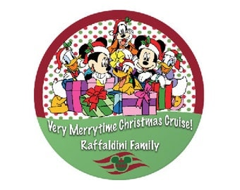 Very Merrytime Christmas Cruise - Disney Cruise Button - Christmas Cruise Button - Mickey and Pals Button - Cruise Pin - Holiday Cruise Pin
