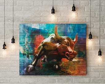 Wall Street Bull Art wall street bull | etsy