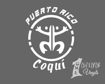 Puerto Rico Coqui Decal/ Boricua / Sticker / Car Window / Bumper Sticker/ Taino / Pride / Boricua /