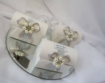 X 5 box-wedding candle / candy box / Favor Box