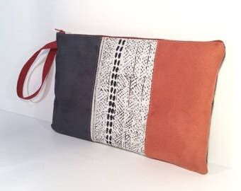 Bag strap Tommy oil, brick and jacquard