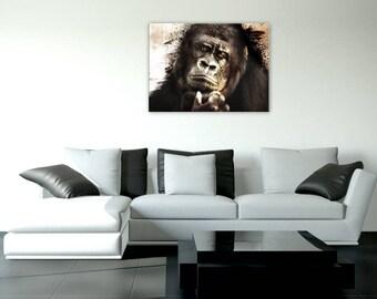 Gorilla, design, animal, digital art painting