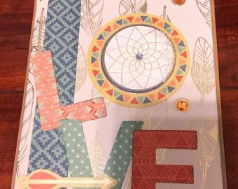 Love greeting card - handmade