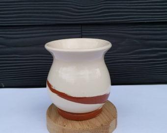 Swirled Terracotta Handle-less Mug