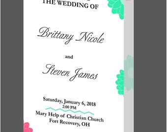 Personalized wedding program