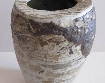 Ikebana vase, stoneware, ceramics, pottery, nerikomi