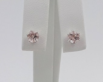 Sterling Silver Morganite Earrings