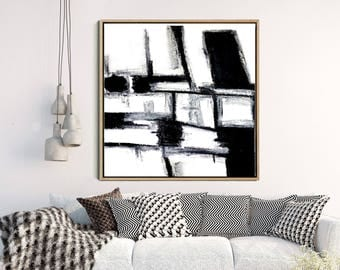Minimalist Decor, Abstract Art, Abstract Print, Black Abstract Art, Monochrome Art Print, Home Decor, Wall Decor, Instant Download