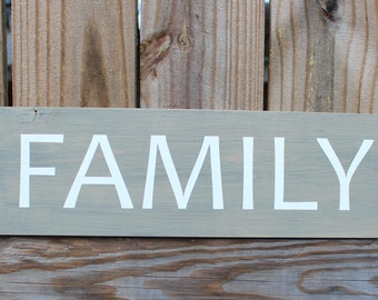 Family sign; rustic family sign; rustic wall hanging; family wall hanging; home decor; housewarming gift; reclaimed wood sign; wood wall art