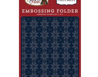 Fair Isle Embossing Folder, Carta Bella Embossing Folder, Cabin Fever Collection