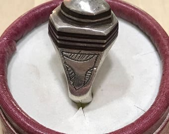 Ethnic silver rings