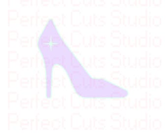 Star Stiletto SVG & Studio 3 Cut File High Heel for Silhouette Cricut Designs Spike Downloads Files Stiletto High Heels Shoe Cutouts SVGs