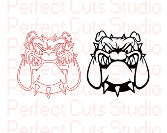 Bull Dog SVG and Studio3 Cut File Stencil and Decal Cut Files BullDog Logo Silhouette Studio File Cricut File SVGS Cutouts Downloads Decals
