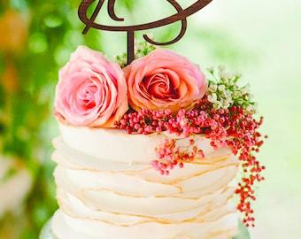 Letter D Cake topper silver Gold Monogram Wedding Cake Topper Initials Cake Topper Personalised D cake topper letter D cake topper wooden