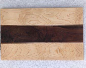 "Maple/Walnut Cheese board - 11.75"" x 18.5"""