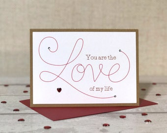 Romantic Card, card for husband, card for boyfriend, card for girlfriend, card for wife, anniversary card, love cards, i love you card