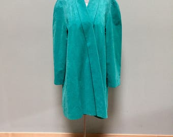 1980's Ultra Suede Teal Facile Jacket