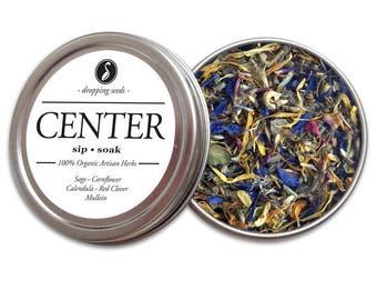CENTER Herbal Blend - Chakra Tea, Herb Blend, Herbal Magic, Diy Herbal Blend, Chakra Blend, Herbal Tea Blend, Herbal Soak, Herbal Bath Salts