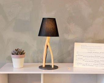 Table lamp, Natural wood Lamp, desk light, designer lighting, home decoration, driftwood light, nightstand lamp, bedroom light, special lamp