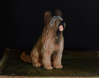 Sandicast small size sculpture, DOG Figurine, Statue, Hand Painted, Resin, Replica Realistic, Gift Pet Lovers, Dog, figurine, Collectible